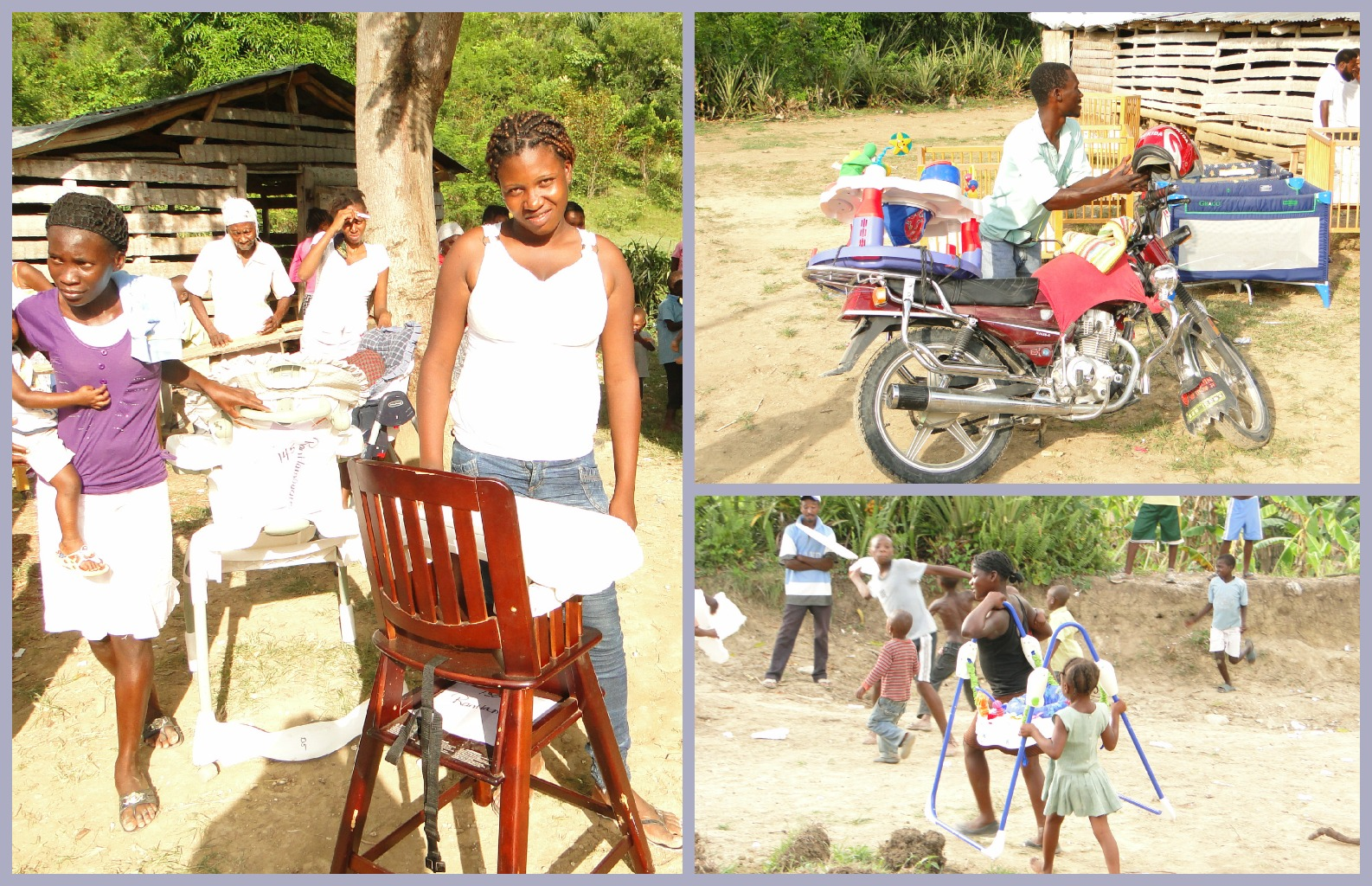 More baby gear in Haiti - High chairs, Swings, Excersaucer!