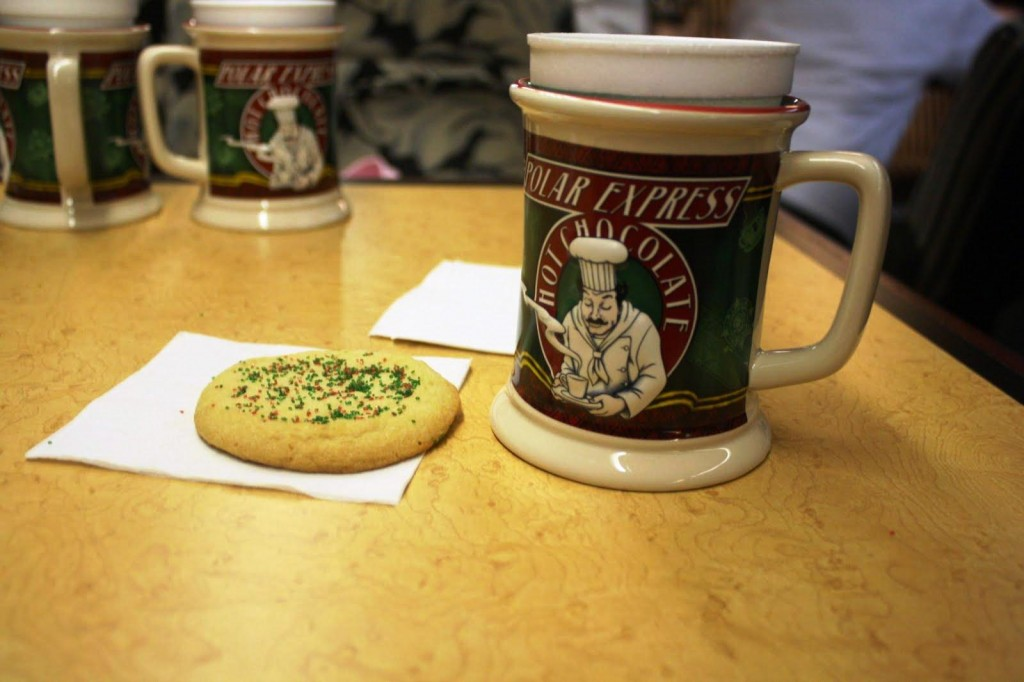 Cookies and cocoa on the Polar Express Train Ride