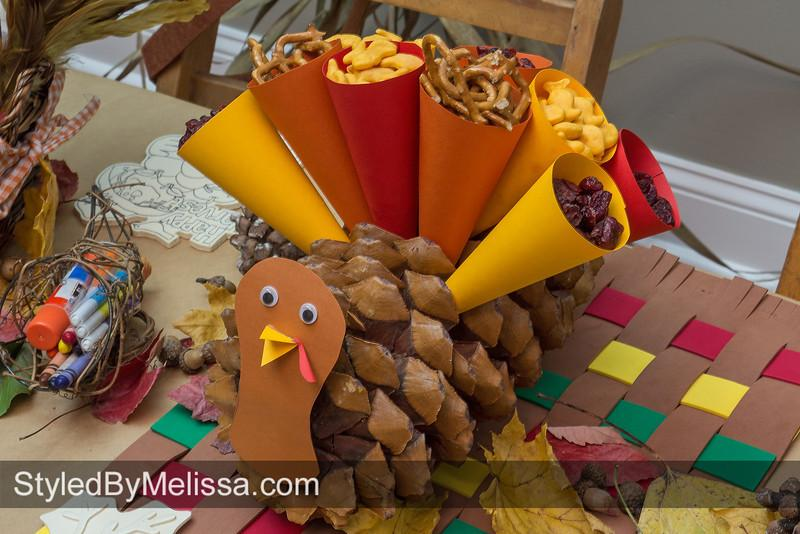 Thanksgiving Crafts for Kids Paper Snack cone turkey