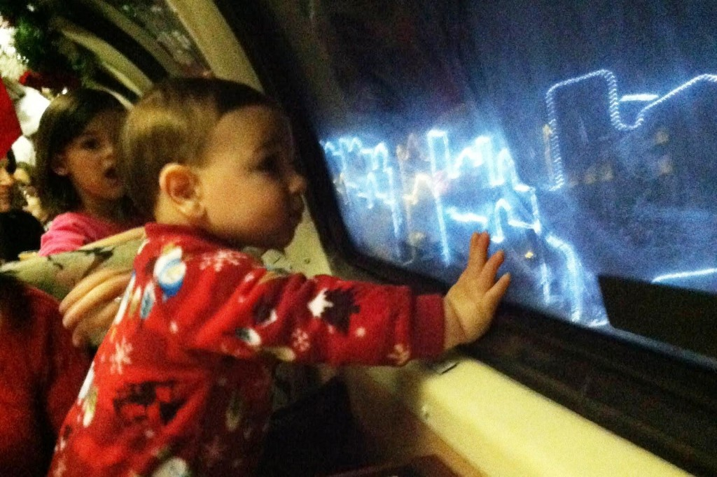 The kids are enchanted on The Polar Express Train Ride