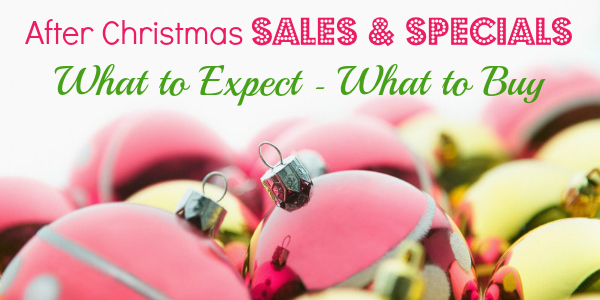 After Christmas Sales and Specials