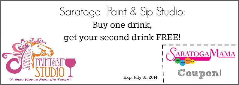 Saratoga Paint and Sip Coupon