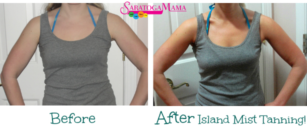 Island Mist Tanning Before and After