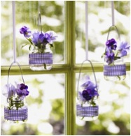 Hanging Vases for Easter Deocorations