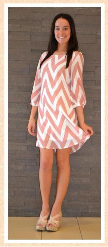 Chevron Dress at Apricot Lane