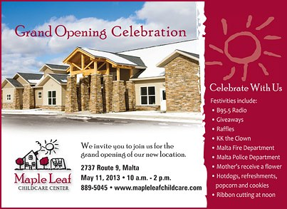 MapleLeaf ChildCare Grand Opening