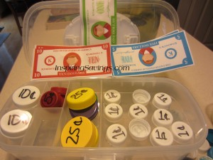 Bottle Cap Coins and printable money!