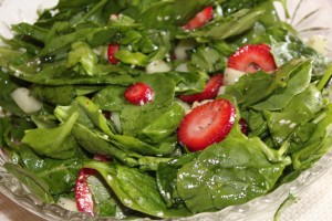 Easy Summer Dinners with Jodie Fitz: Spinach and Strawberry Salad