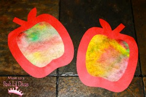 coffee filter apples