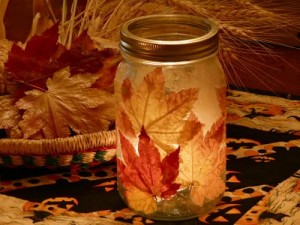 colorful mason jar project