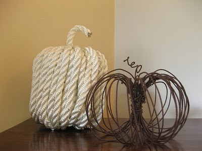 wire pumpkin from Someday Crafts