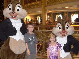 Jan and family in Disney