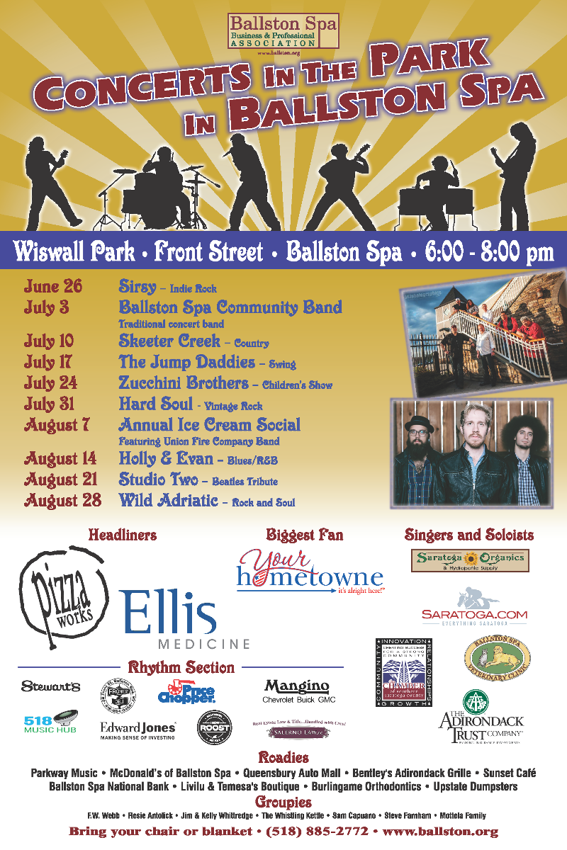Ballston Spa Concerts in the Park @ Wiswall Park | Ballston Spa | New York | United States