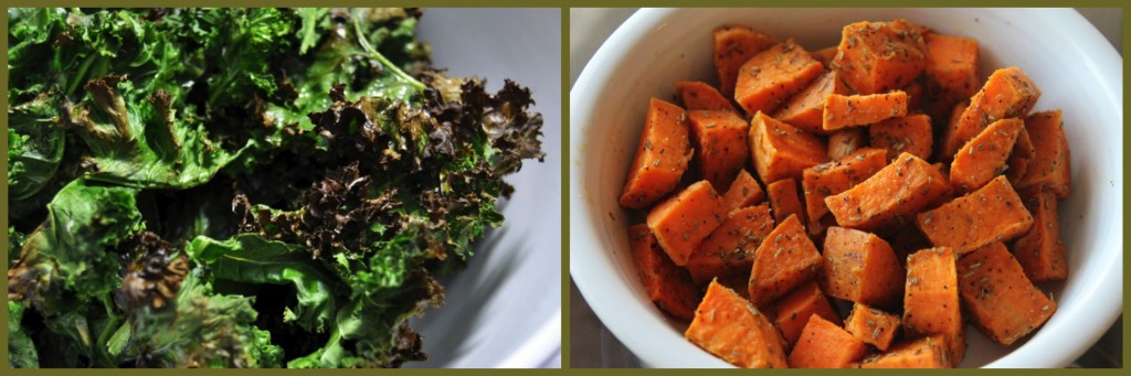 Warm Kale, Bacon, and Sweet Potato Salad