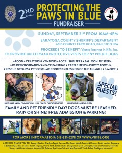 2nd Annual Protecting the Paws in Blue - Vested Interest in K9s @ Saratoga County Sheriff's Department | Ballston Spa | New York | United States