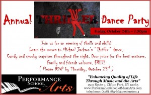 "Annual ""Thriller"" Dance Party @ Performance School of the Arts 