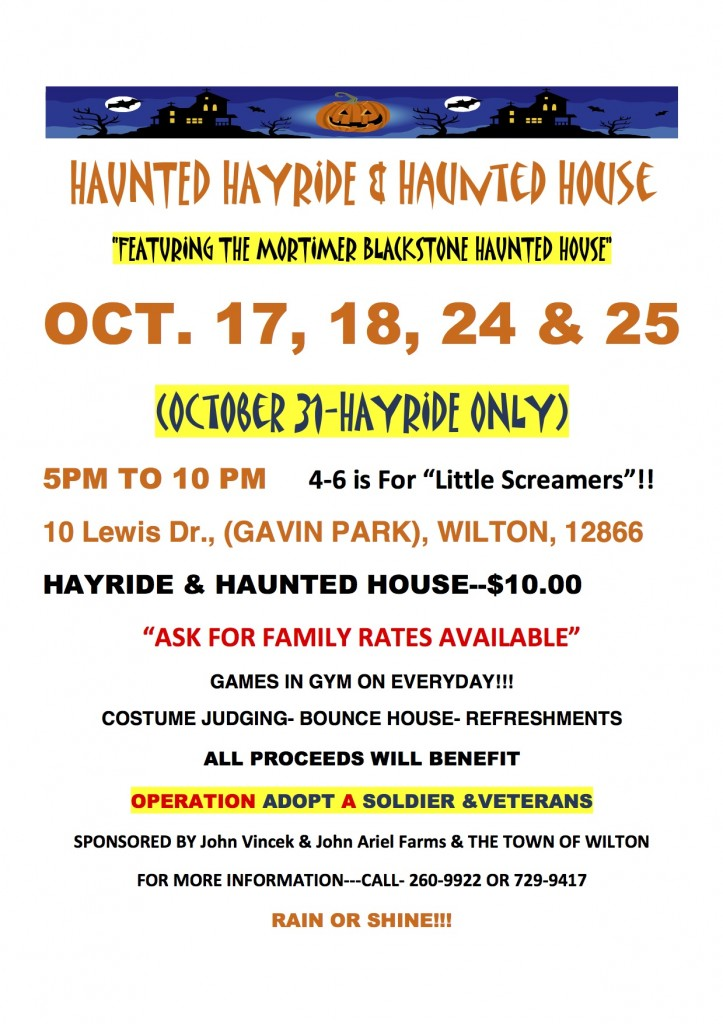 Haunted Hayride and Haunted House @ Gavin Park