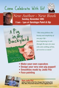 A Pig in my Backyard -  Book Launch Party  @ Saratoga Springs Paint & Sip Studio | New York | United States