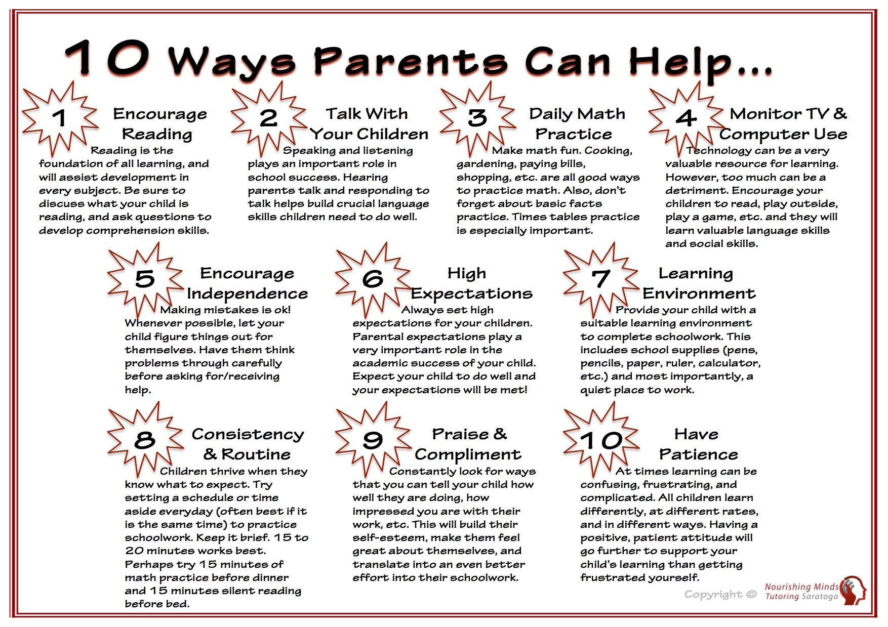 10 Ways Parents Can Help small