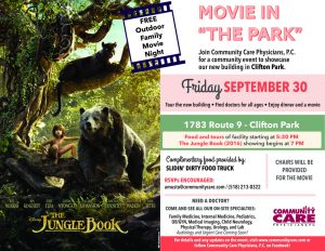 "Free Movie in ""the Park"" - The Jungle Book (2016) @ Community Care Physicians, P.C. - Clifton Park Health Park 