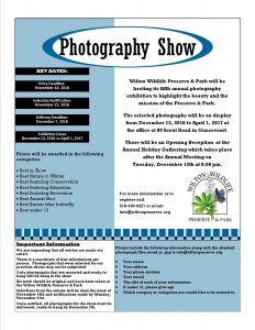 Submissions For Annual Photography Show @ Wilton Wildlife Preserve and Park |  |  |