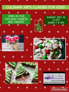 HOLIDAY SWEETS & TREATS! Culinary Arts Class for Kids @ Art in Mind Creative Wellness Stuio | Schenectady | New York | United States