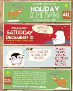 Holiday Cookie Making Class at Forno Bistro @ Forno Bistro | Saratoga Springs | New York | United States