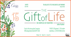 The Gift of Life – Burnt Hills Oratorio Society @ Church of the Immaculate Conception | Schenectady | New York | United States