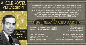 A Cole Porter Dinner Cabaret – Burnt Hills Oratorio Society @ Van Patten Golf Course | New York | United States