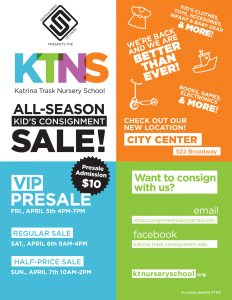 KTNS All-Season Children's Consignment Sale @ Saratoga Springs City Center | Saratoga Springs | New York | United States