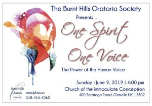 One Spirit, One Voice – Burnt Hills Oratorio Society @ Church of the Immaculate Conception | Schenectady | New York | United States