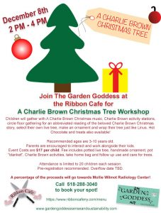 Charlie Brown Christmas Tree Workshop @ Ribbon Cafe | Ballston Spa | New York | United States