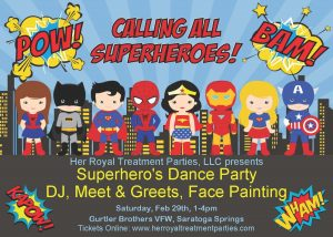 Superhero Dance Party @ Gurtler Brothers VFW Post 420 | Saratoga Springs | New York | United States