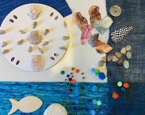 Shell and Beach Art Kit and Virtual Art Class @ Your Home |  |  |